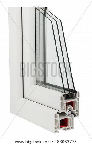Sample of window profile on white background