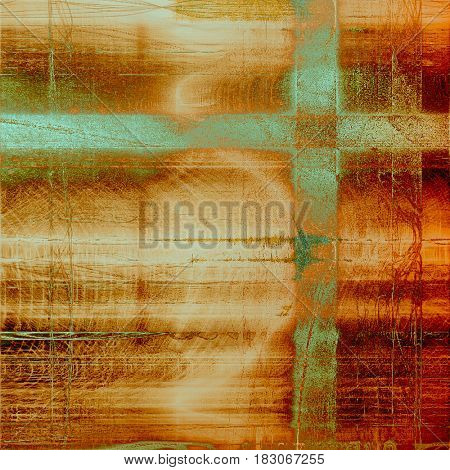 Retro background with grunge texture. With different color patterns: yellow (beige); brown; green; gray; red (orange); cyan