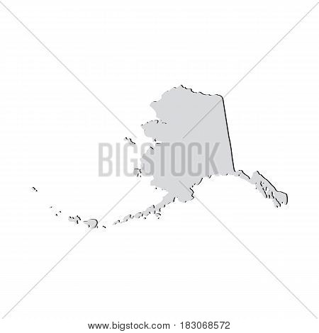 Map of the U.S. state of Alaska on a white background