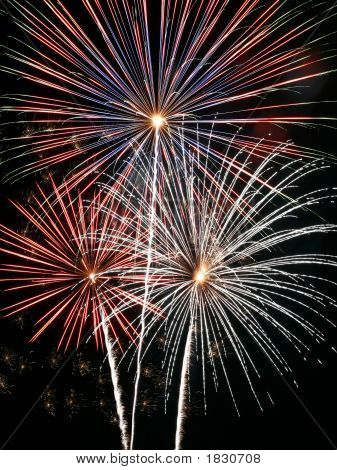 Fireworks Display Explosion Fourth July