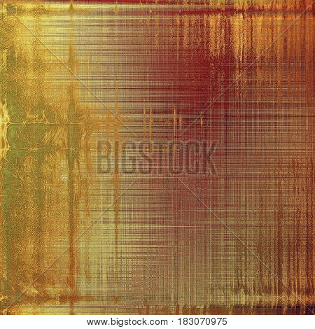 Highly detailed scratched texture, aged grungy background. Vintage style composition with different color patterns: yellow (beige); brown; green; gray; pink; red (orange)