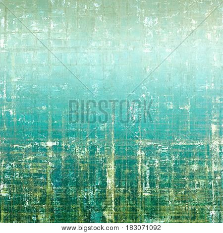 Antique vintage textured background. With different color patterns: blue; green; white; gray; cyan; brown