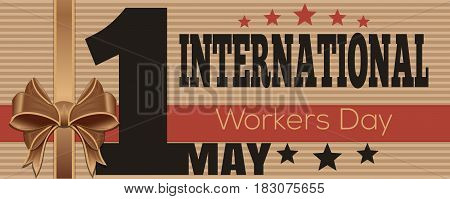 International Worker Day. 1 May. May Day. International Labor Day. Vector flyer template for Labor Day