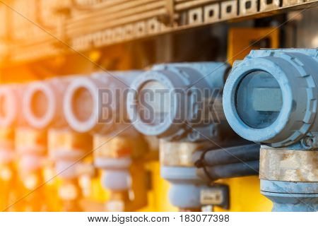 Digital pressure gauge of oil and gas in process controller Programmable logic controller
