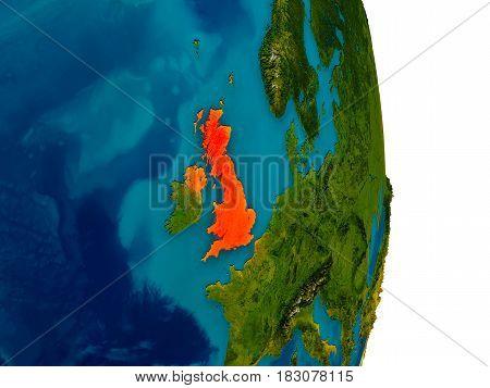 United Kingdom On Model Of Planet Earth