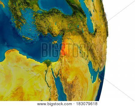 Lebanon On Model Of Planet Earth