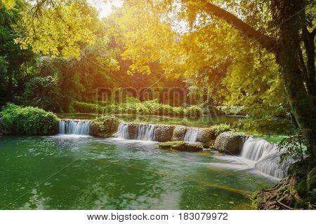 Jed-sao-noi (little Seven-girl) Waterfall At Saraburi, Thailand