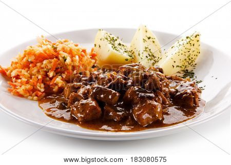 Goulash - meat and potatoes