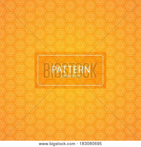 Orange bokeh abstract light background - Vector illustration