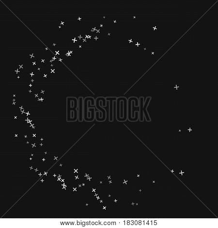 Abstract vector pixel background. Circle technology illustration. Digital data pattern. Web design elements. Science texture.
