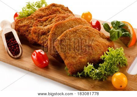 Fried pork chops