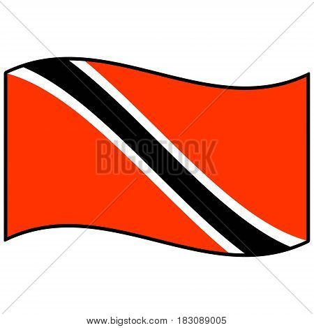 A vector illustration of a Trinidad and Tobago flag.
