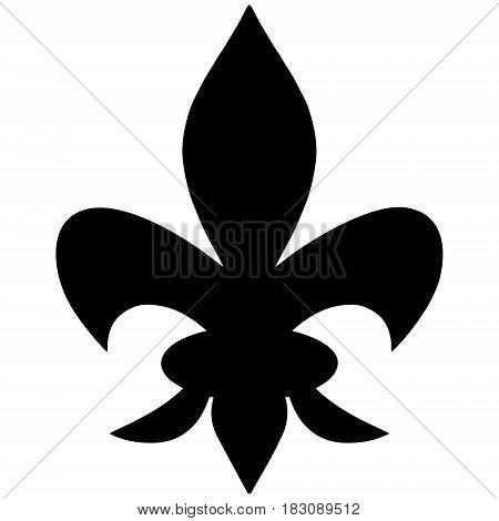 A vector illustration of a Fleur De Lis symbol.