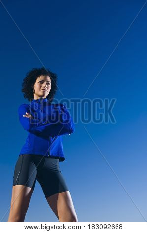 African woman wearing sportswear
