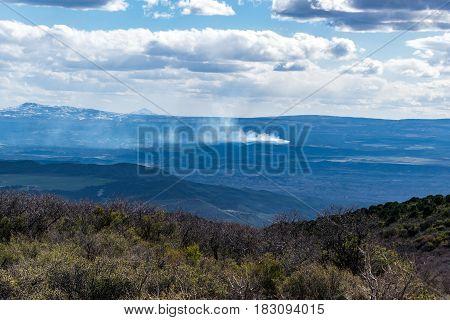 A Small Wildfire in the Colorado Wilderness