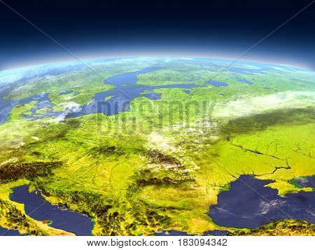 Eastern Europe From Space