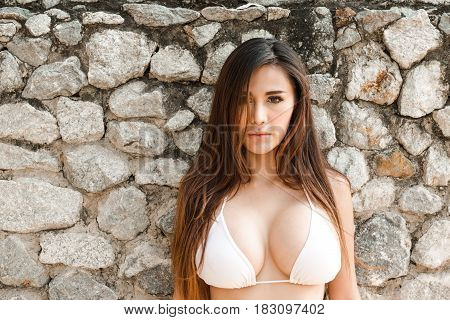 Portrait Of Attractive Confident Young Sexy Asian Woman