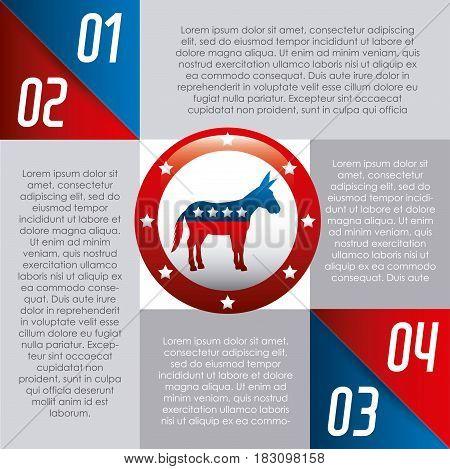 democrat party usa isolated icon vector illustration design