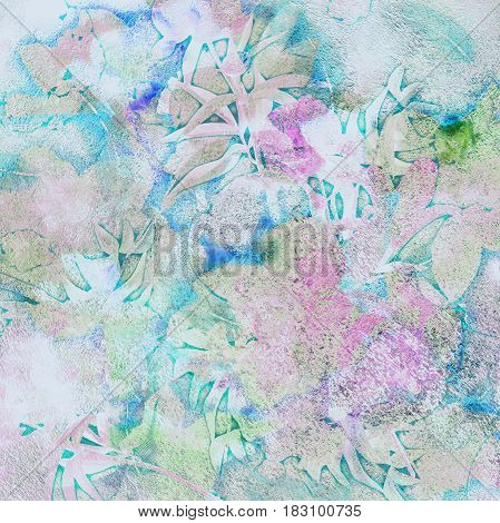 abstract colorful spotted pale  blue background narcissus
