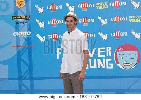 Giffoni Valle Piana Sa Italy - July 28 2013 : Sacha Baron Cohen at Giffoni Film Festival 2013 - on July 28 2013 in Giffoni Valle Piana Italy