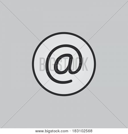 e-mail icon isolated on white background .