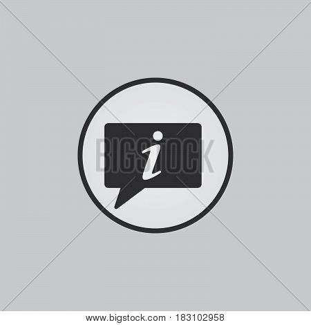 info icon isolated on white background .