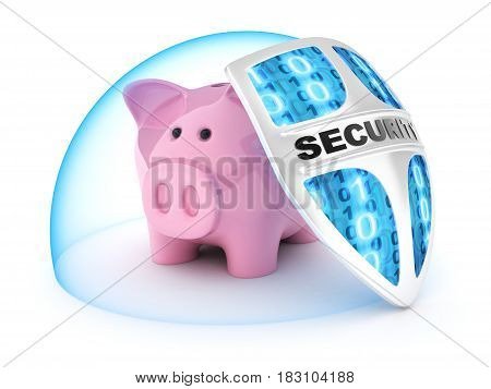 Piggy bank.Symbol save money on a white background. 3d illustration