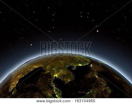 Indochina At Night