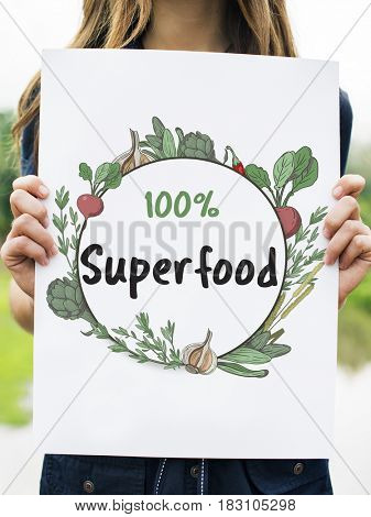 Fresh nutritious green natural healthy