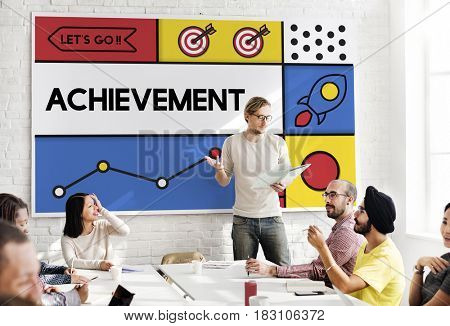 Business Meeting Achievement Concept