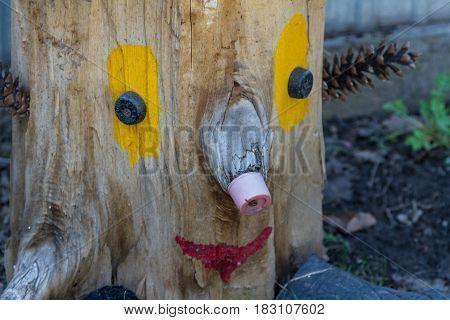 Stump Made In The Garden