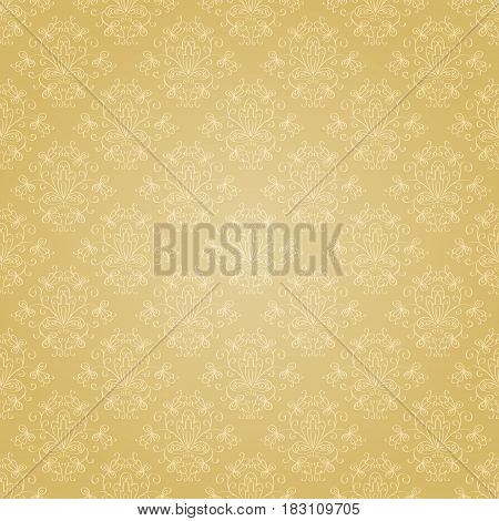 Seamless holiday golden pattern. Seamless pattern can be used for pattern fills web page background surface textures wrapping paper. Floral textile background