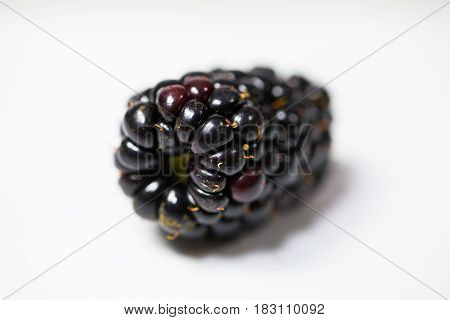 Blackberry Single White Background, sweet, health, snack