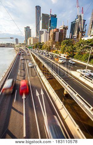 Highway in the downtown Brisbane Queensland Australia
