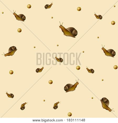 Seamless pattern with. Vector illustration on the light beige