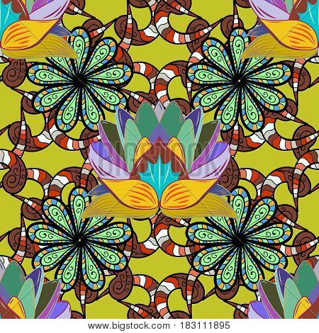 Hand painted vector mandala colored on colorful background indian peacock indian pattern colored mandala mandala peacock.