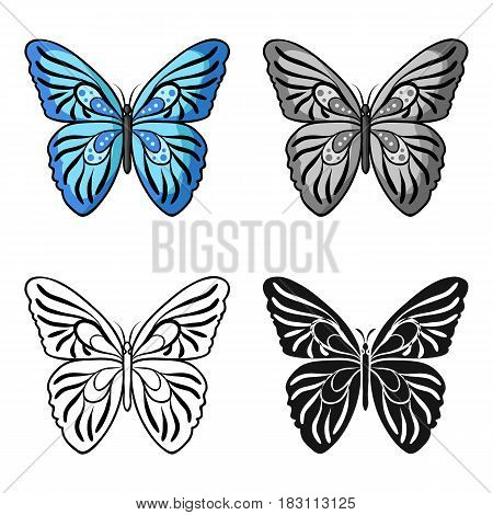 Butterfly icon in cartoon design isolated on white background. Insects symbol stock vector illustration.