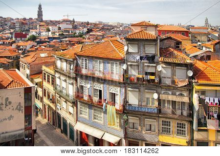 Picturesque panoramic view of Porto, Portugal