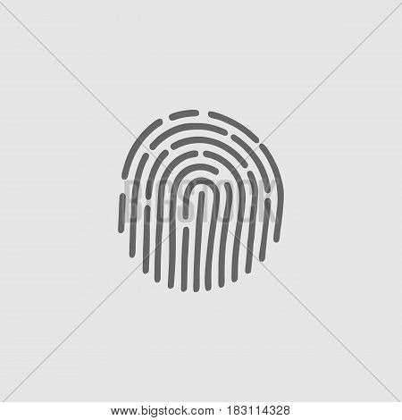 Fingerprint Icon Vector. Id Scanner. Touch Fingerprint Identification Sensor