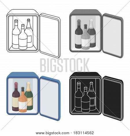 Mini-bar icon in cartoon style isolated on white background. Hotel symbol vector illustration.