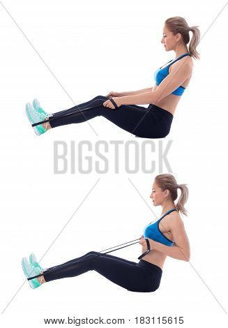 Elastic Band Seated Row