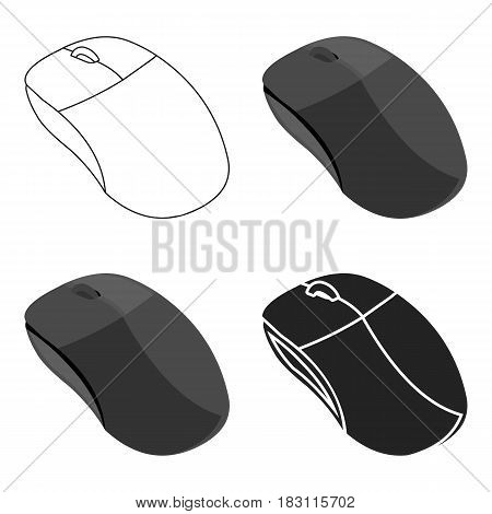 Computer mouse icon in cartoon style isolated on white background. Personal computer symbol vector illustration.