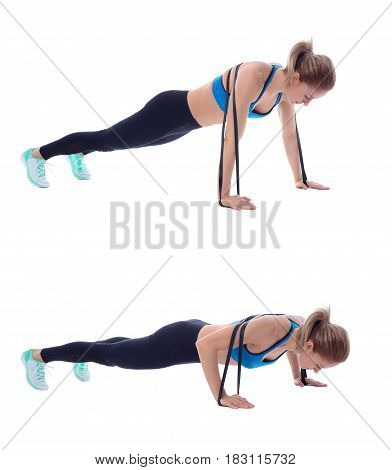 Elastic Band Push Up