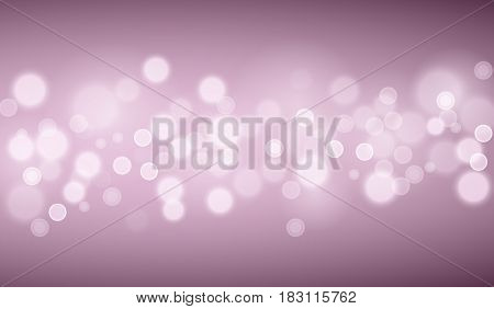 Defocused purple lights backgrounds. Template from vector bokeh backgrouns.