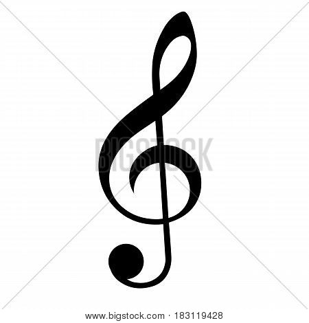 music clef isolated on white background. Vector illustration.