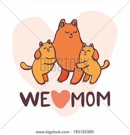 Greeting Card With Kittens.eps