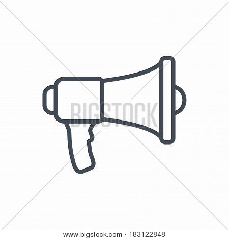 Megaphone. Vector icon isolated on white background.