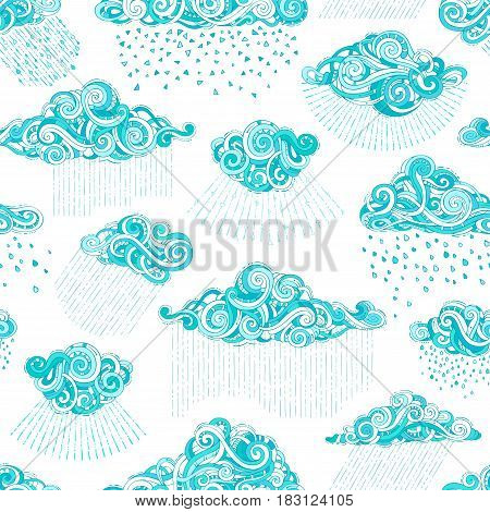 Vector Seamless Shower Pattern.
