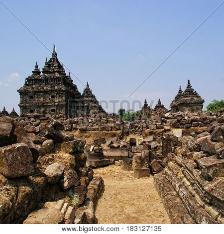 Plaosan Temple is situated in Bugisan Village, Prambanan Sub-district, Klaten District, Central Java, Indonesia
