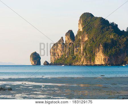 Lagoon Mountains Blue Seascape